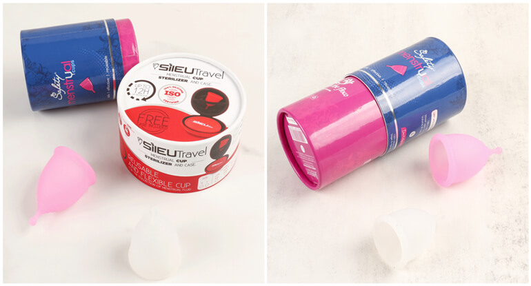 cardboard cylindrical packaging boxes for period cups