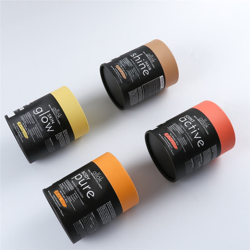 cardboard cylinder packaging for dietary supplements