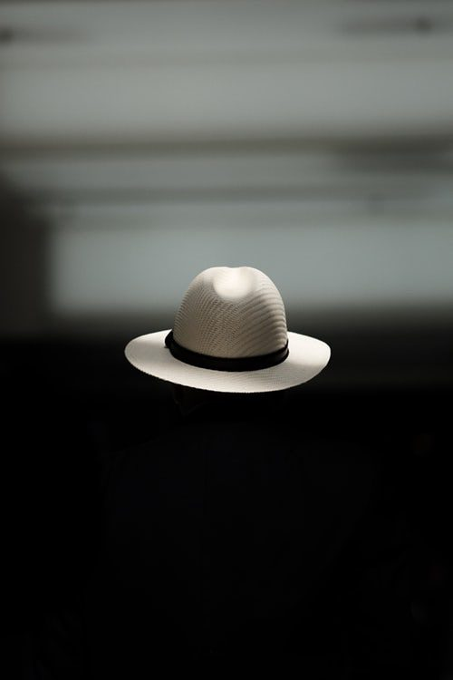 hat in space, isolated