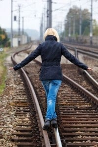 railroad tracks, balance, Sensory Integration Disorder