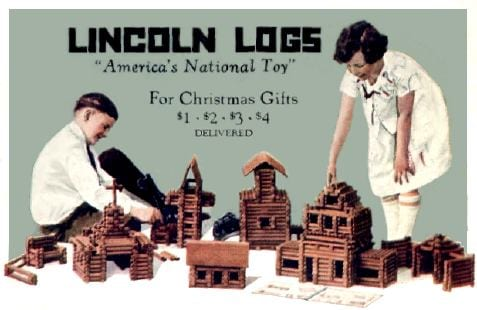 old toys, classic lincoln logs