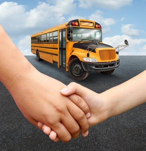 Need a helping hand, school bus