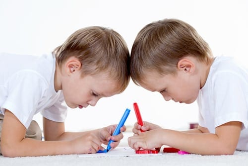twins go head to head, coloring