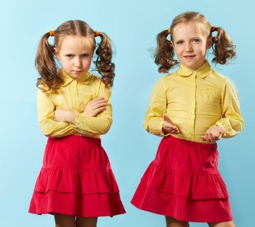 opposite personalities, twins