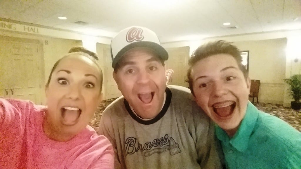 Kerri Molter, Brad Cohen, and Tommy Molter taking a silly selfie