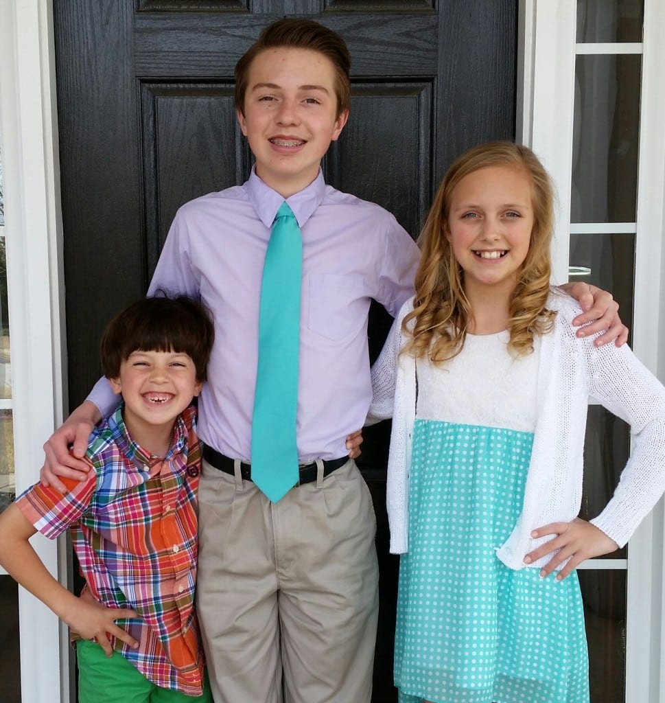 From left: Presley, Tommy, and Audrey Molter
