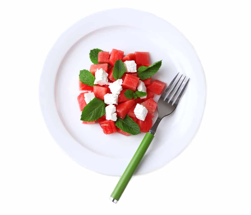 Watermelon and Bulgarian Cheese with Mint