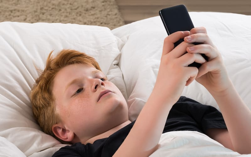 Texting in Bed