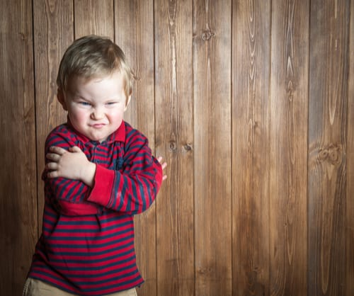 Toddler plotting mischief
