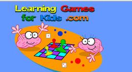 Learning Games for Kids website screenshot