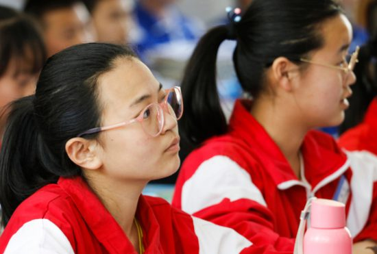 Students in Chinese classroom illustrate effects of myopia epidemic