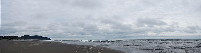 Coastline on southern Lopez Island, Washington, USA, overlooking the Strait of Juan de Fuca.