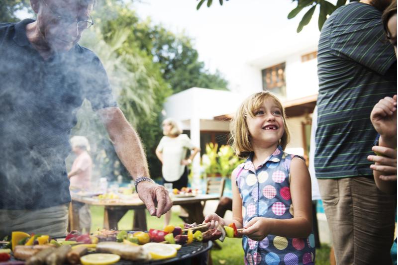 family backyard barbecue