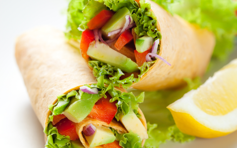 no-cook Veggie wrap