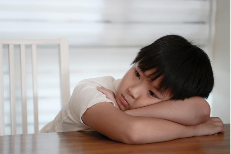 Sad Asian child