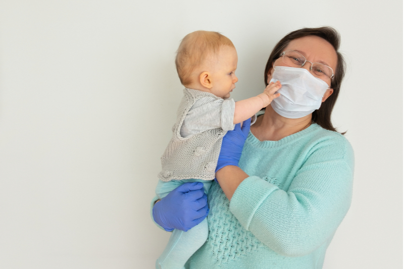 Caregiver masks make it difficult for baby to read lips