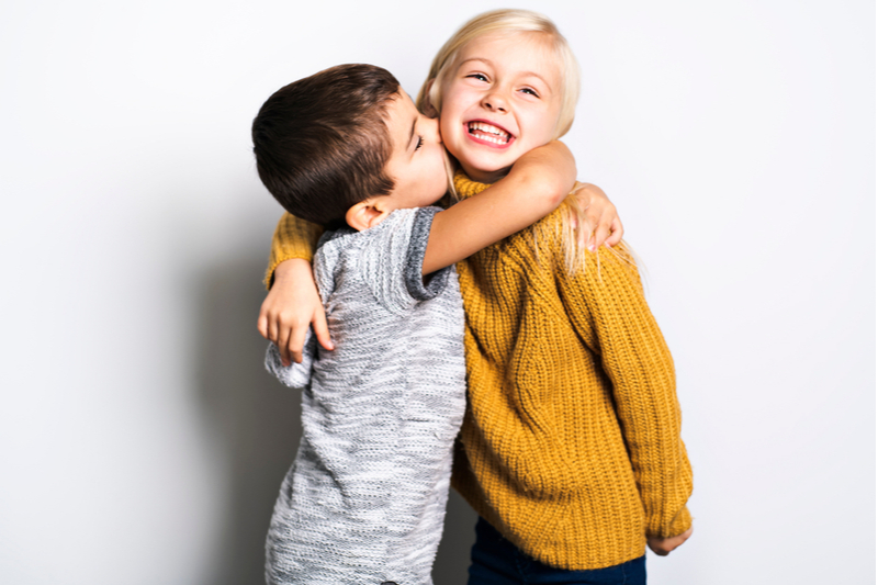 Positive Side of the Pandemic Better Sibling Relationships brother kisses hugs big sister