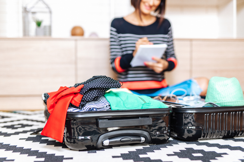 Packing for a journey with a special needs child using checklist