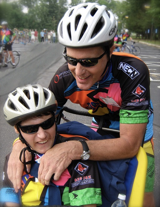 A father's love: Steven Gardner and his son Graham