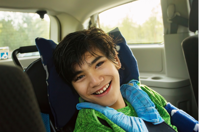 special needs child in car seat