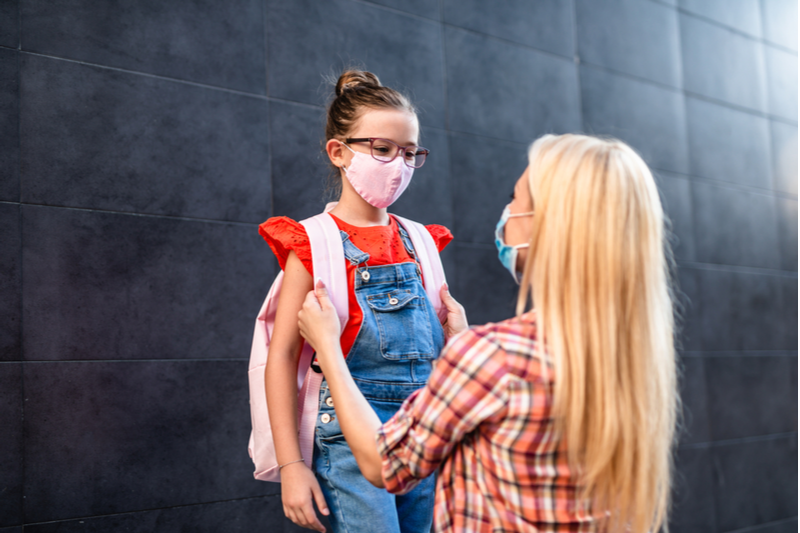 mom reassures daughter wrestling with back to school fears