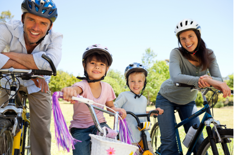 family bike trip to stay healthy in pandemic