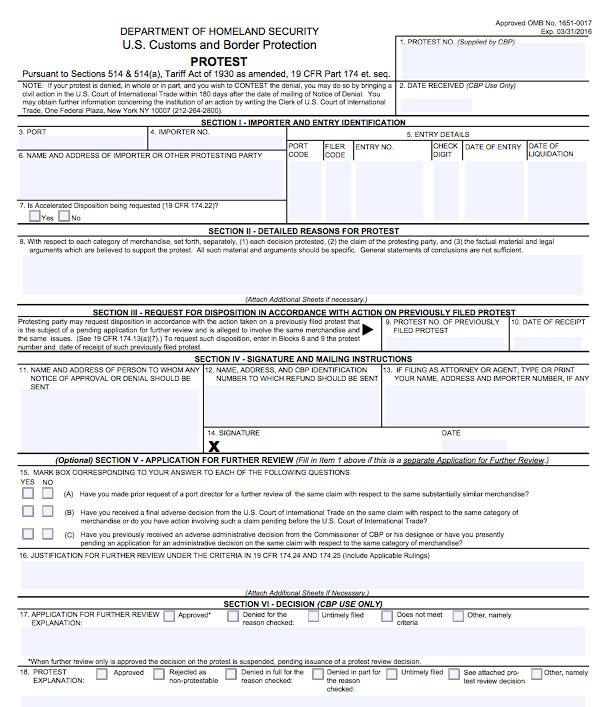 www.cbp.gov sites default files documents CBP_Form_19.pdf