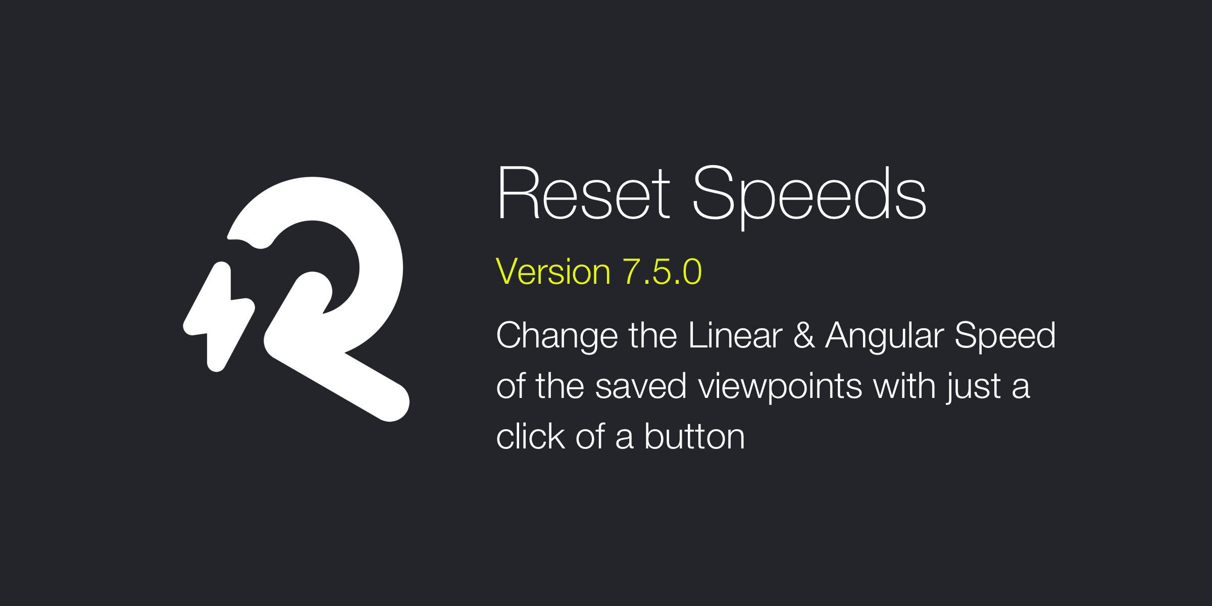 Reset Speeds