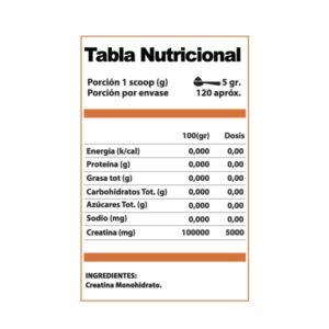 Creatina Monohidrato Ultramicronizada 300 gr – Winkler Nutrition