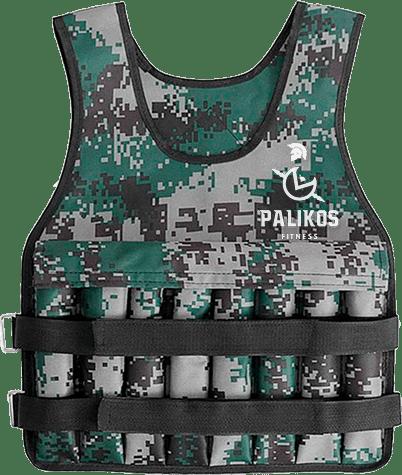 Chaleco con Peso - Camuflaje Militar - Palikos Fitness