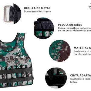 Pack chaleco de peso 15 kg + Power bag 15 kg (Cualquier diseño)