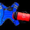 Pack chaleco con peso azul sand bag palikos fitness