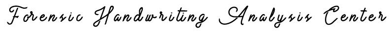 Forensic Handwriting Analysis Center