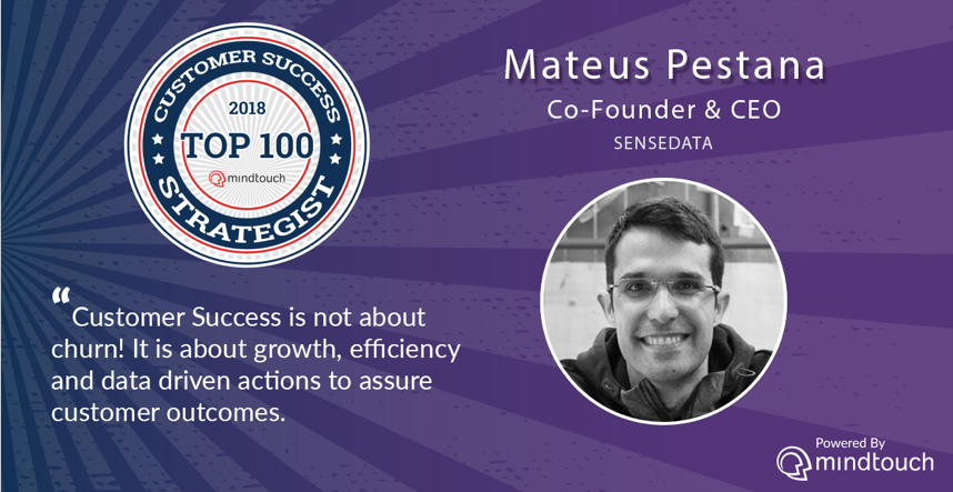 Mateus Pestana top 100 estrategistas Customer Success