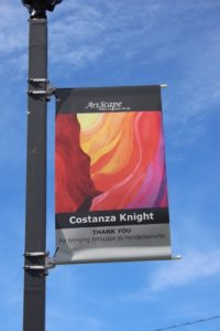 ArtScape Banner 2017. Costanza Knight, Artist