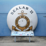 sealab ii endbell on exhbit outside the naval undersea museum