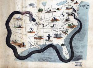 civil war map of anaconda plan