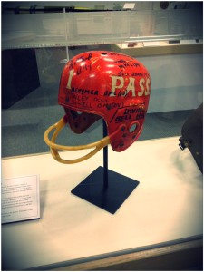 Historic football helmet signed by Navy divers