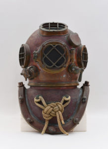 Historic diving helmet