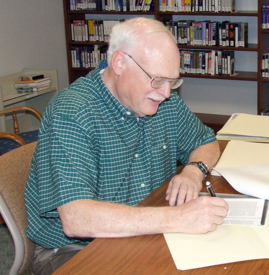 Charles diligently processed an archival collection at the Naval Undersea Museum.