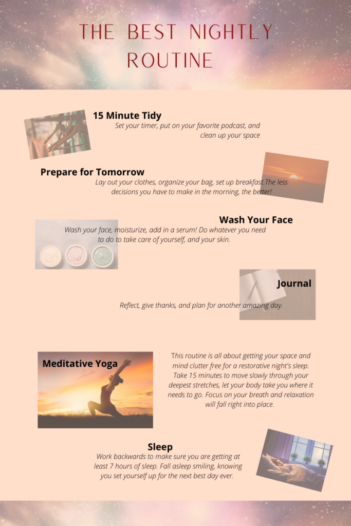 The Best Nightly Routine Infographic