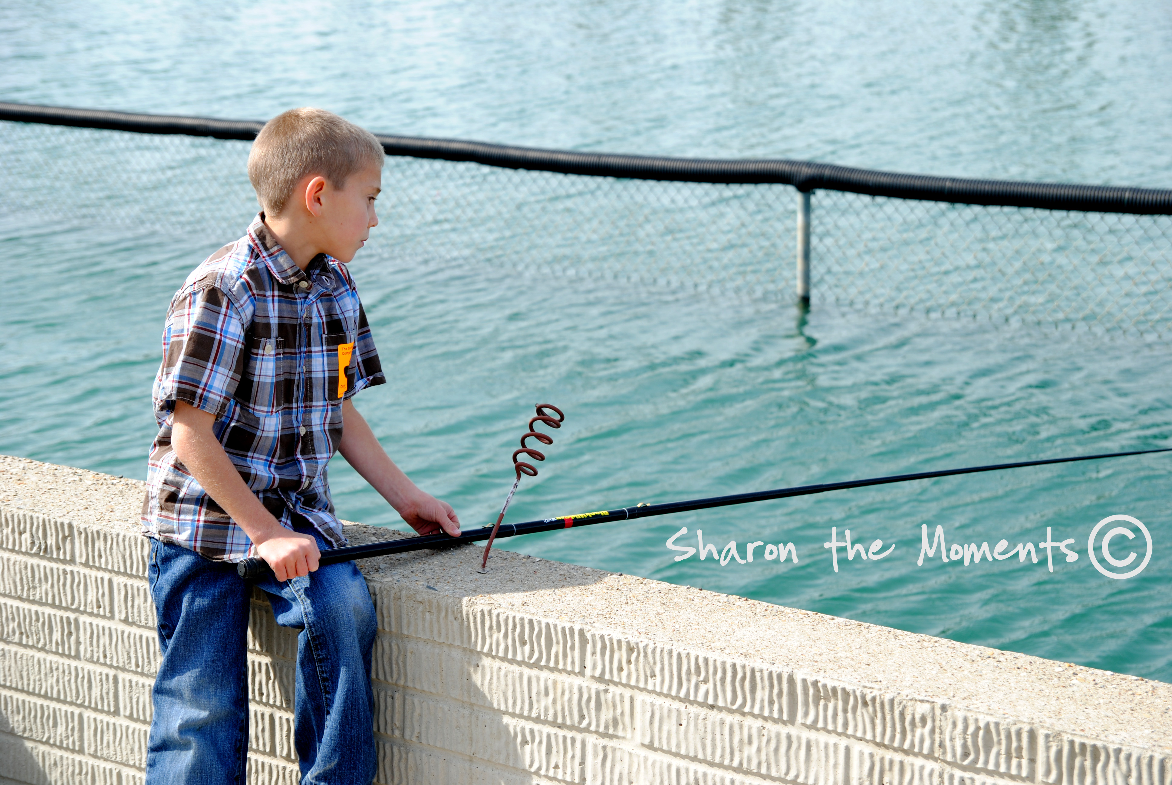 Fishing at the Orchard and Company|Sharon the Moments blog