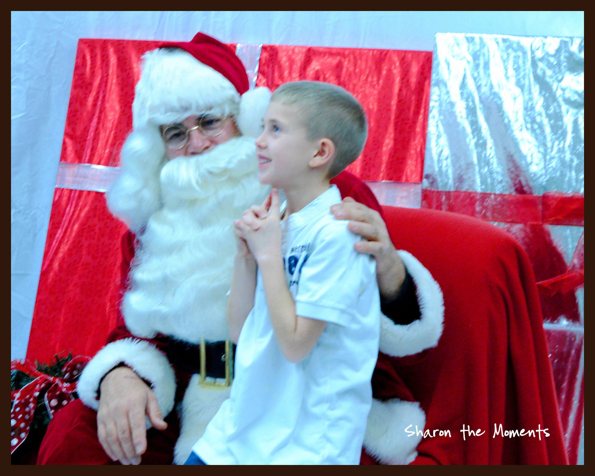 Christmas Present wishing and hoping with Santa Claus|Sharon the Moments blog