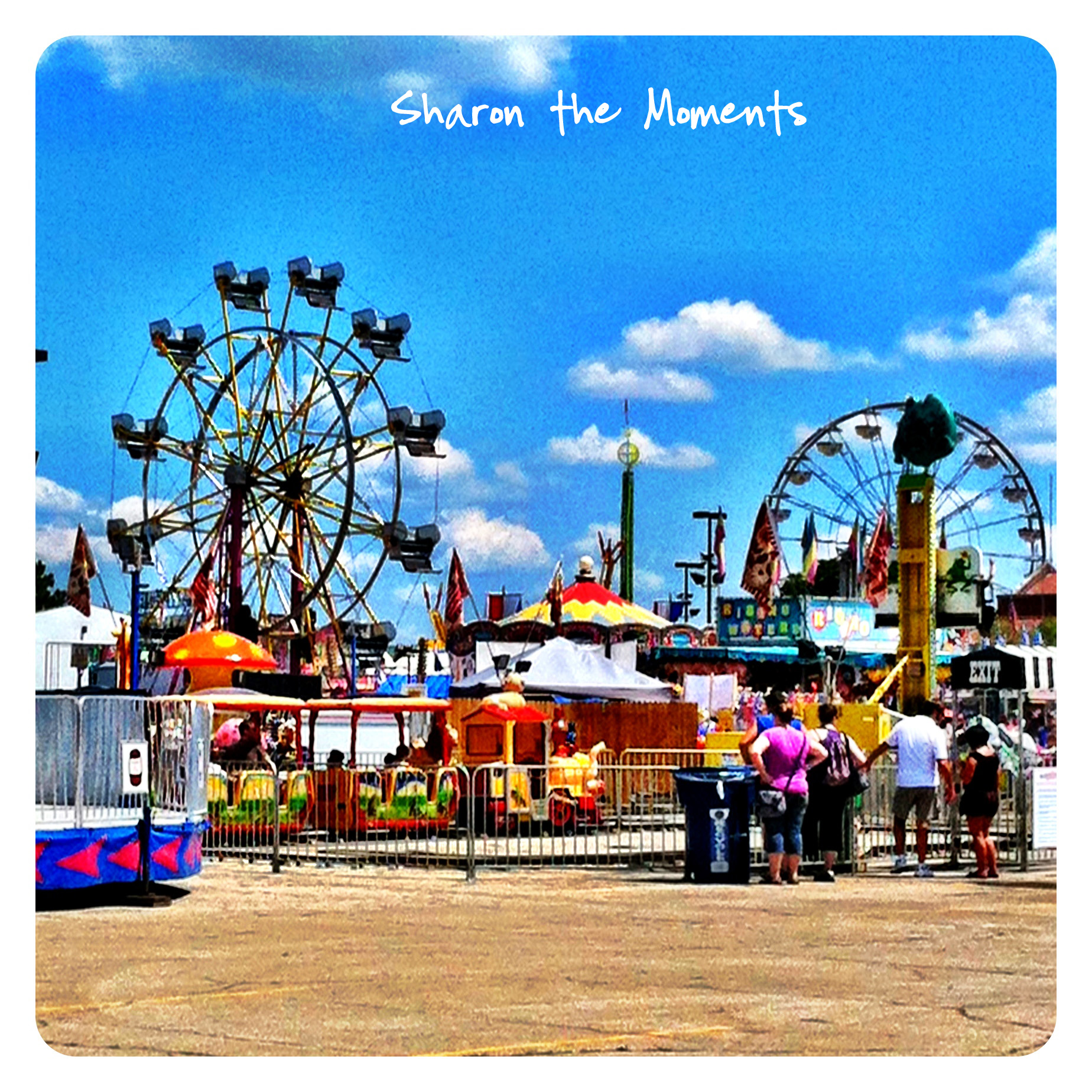 Ohio State Fair Ferris Wheel in the Midway Sharon the Moments blog