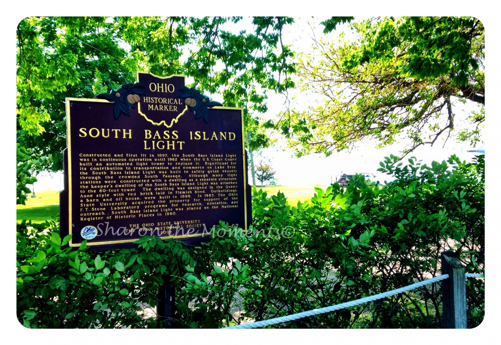 Remarkable Ohio ... Ohio Historical Marker #9-62 South Bass Island Light| Sharon the Moments Blog
