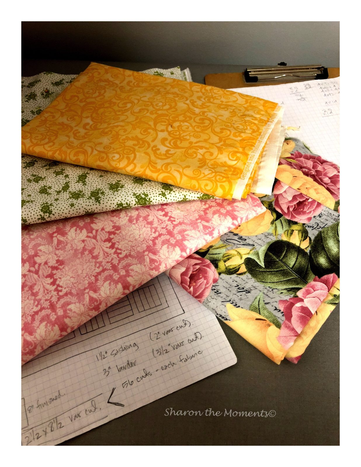 Flower Garden Quilt Pattern || Sharon the Moments Blog