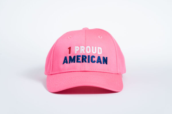 Style _ CP80 –Port _ Company® Six-Panel Twill Cap PINK RED WHITE BLUE TEXT (1)