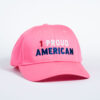 Style _ CP80 –Port _ Company® Six-Panel Twill Cap PINK RED WHITE BLUE TEXT (2)