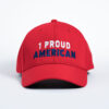 Style _ STC50 Sport-Tek® Action Snapback Cap SOLID RED – WHITE BLUE TEXT (1)