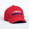 Style _ STC50 Sport-Tek® Action Snapback Cap SOLID RED – WHITE BLUE TEXT (2)